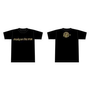 【mudy】ロゴTシャツ ブラック XS